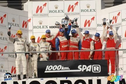 1000 km Spa 2007 Podium